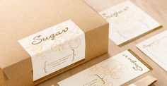 Branding and collateral designed for a dessert-focused eatery. Who doesn't love a little patterning!?