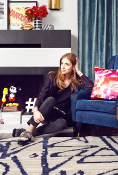 Chiara Ferragni in her living room
