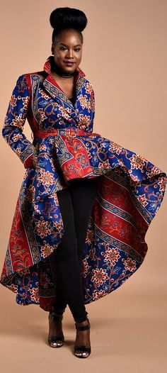 Royal Rose High low Dress Jacket. Get Noticed in This statement Jacket, a must have piece African print Dress Jacket with shoulder pads, belt closure Full A-line silhouette. High low dress jacket. Upper part is lined with 100% cotton. Ankara | Dutch wax | Kente | Kitenge | Dashiki | African print dress | African fashion | African women dresses | African prints | Nigerian style | Ghanaian fashion | Senegal fashion | Kenya fashion | Nigerian fashion | Ankara summer dress (affiliate)