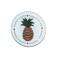 Ananaslı Porselen Tabak