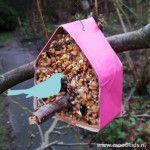 Zelf een vogelvoerhuisje maken