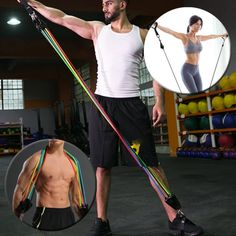 Home Gym Workout Resistance Band Set – ItShopTime Hip Workout, Gym Workouts, At Home Workouts, Tighten Loose Skin, Neck And Back Pain, Workout Session, Best Gifts For Men, Stay In Shape, Muscle Groups