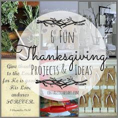 6 Fun Thanksgiving Projects and Ideas #thanksgiving #autumn