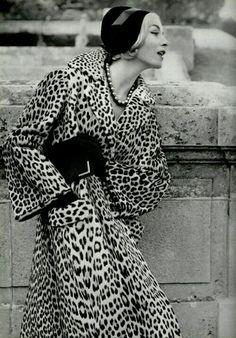 leopard coat + necklace
