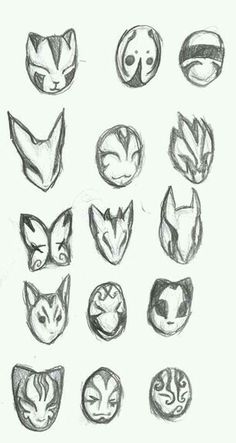 Mask Design - New ideas Mask Drawing, Drawing Base, Mascara Anime, Drawing Expressions, Drawing Reference Poses, Masks Art, Art Drawings Sketches, Mask Design, Character Design Inspiration