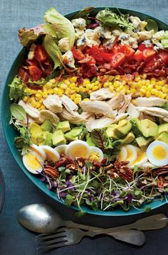 Southern Cobb Salad With Roasted Sweet Onion Dressing Recipe | http://aol.it/1pOMbU9