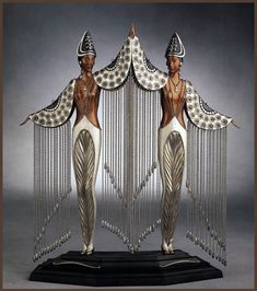 Erte Art Deco Figurines 'Les Bijoux de Perles'