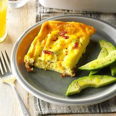 Bacon and Eggs Casserole Recipe -Because it's fast to fix and such a great hit with family and friends, this is a favorite of mine to make for brunches. Served with a fruit salad, hot muffins and croissants, it's excellent for an after-church brunch. —Deanna Durward-Orr, Windsor, Ontario