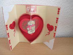 Das war die Valentinstag Karte für Mein Schatzi.Der hat sich sehr gefreut. Container, Valentines, Crafts, Cards, Canisters