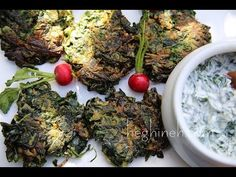Spinach Fritters Recipe - Ohtcheh - Armenian Cuisine - Heghineh Cooking Show - YouTube