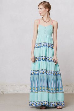 Ocean Waves Maxi Dress #anthropologie