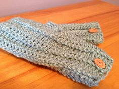 Slate Blue Fingerless Mittens