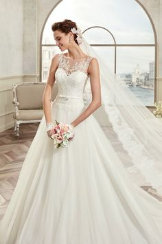 19b58bfb392 Modest Tulle   Satin Bateau Neckline A-Line Wedding Dresses With Beaded Lace  Appliques