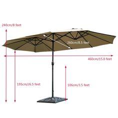 Big Umbrella, Umbrella Cover, Large Outdoor Umbrella, Market Umbrella, Patio Umbrellas, Patio Table, Warm Weather, Canopy, Swimming Pools