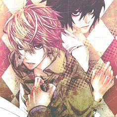 Light and L - Death Note