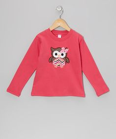 Loving this Fuchsia Owl Tee - Toddler & Girls on #zulily! #zulilyfinds