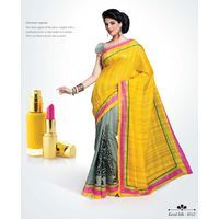 Buy Captivating Yellow printed Saree online - Shoppervilla