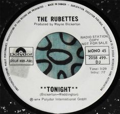 RUBETTES.....TONIGHT & SAME...VERY  RARE1974 CANADA PROMO...AWESOME...HEAR #PopCLASSICROCKPOPVOCALSPROMO
