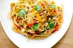 Pad Thaï végétarien coloré
