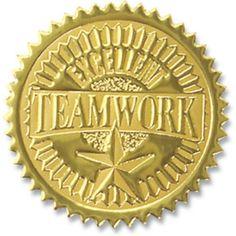 Gold foil certificate seals achievement embossed foil 12pack teamwork embossed gold foil seals employee recognitionteamworkgold foilcertificatesealsstamps yadclub Choice Image