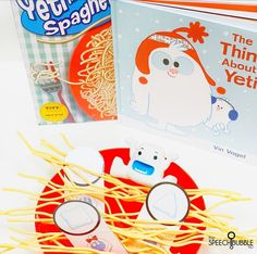 Yeti In My Spaghetti is one of my favorites to use with this theme. Here are some options for doing this activity in person or distance learning.
