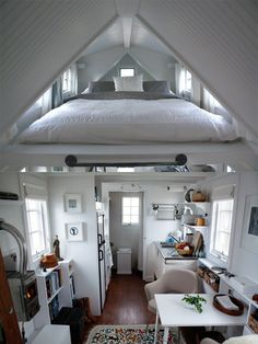 Dachschräge Schlafzimmer Satteldach-Maisonette Wohnung-platzsparend Design