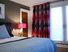 Client's bedroom done in Designers Guild Fabric