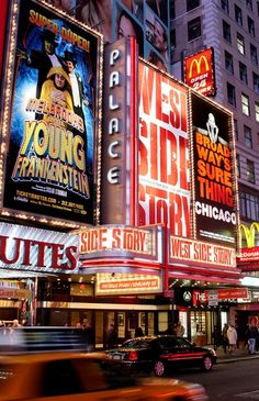 West Side Story At Place Theatre Bright Lights Of Times Square New York City Oc Fanfiction, I Love Nyc, West Side Story, West End, Bright Lights, Movie Theater, Musical Theatre, New York City, Times Square