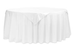 """Taffeta Table Overlay Topper 54""""x54"""" Square - White ● As Low as $2.79 ● Available from www.cvlinens.com"""
