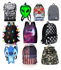 """10 backpacks every girl needs"" by ingrid-saeterdalen on Polyvore featuring Herschel Supply Co., MadPax, JanSport, Disney, Comeco and Wet Seal"