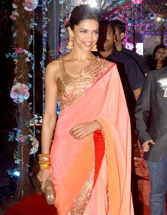 Deepika Padukone at Ahana Deol's wedding reception #Style #Bollywood #Fashion #Beauty
