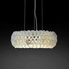 Stunning #chandelier made of #upcycled #badminton #shuttlecocks #lamp #light