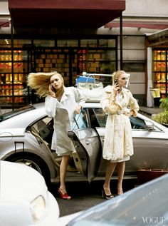 """The Terrier and Lobster: """"Coat Check"""": Gemma Ward, Lily Donaldson, and Dogs on Park Ave by Steven Meisel for US Vogue Gemma Ward, Lily Donaldson, High Fashion Photography, Glamour Photography, Lifestyle Photography, Editorial Photography, She's A Lady, Check Coat, Vogue Us"""
