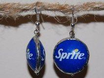 Sprite recycled earrings