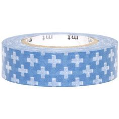 blue mt Washi Masking Tape deco tape with crosses