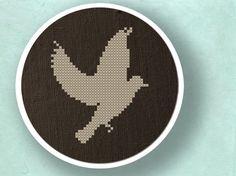 Dove Silhouette. Cross Stitch PDF Pattern. $3,00, via Etsy.
