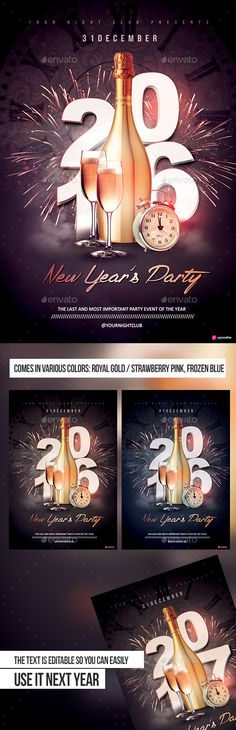 New Year Party Flyer  Poster Vol  Party Flyer Template And