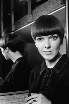 Mary Quant the designer of the mini skirt and hot pants.