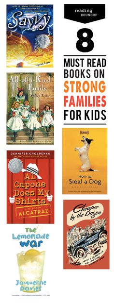 A collection of books centering on strong families from our resident children's librarian, Janssen from @modrentmessykid