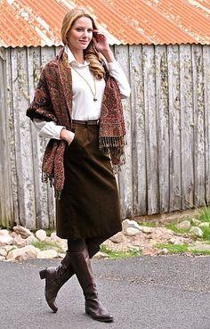 House of Bruar Ladies Classic Velvet Skirt from House of Bruar
