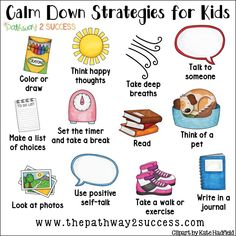 Calming strategies for kids Counseling Activities, School Counseling, Therapy Activities, Social Activities, Elementary Counseling, Anger Management Activities For Kids, Stress Management Strategies, Counseling Worksheets, Emotions Activities