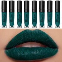 Wish | 12 Color Available Summer look green velvet matte lipstick long lasting waterproof balck blue purple fashion color