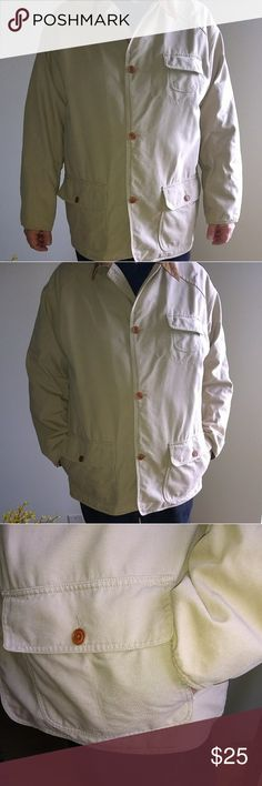 Tommy Hilfiger Jacket Size XL Vintage Amazing Hilfiger designed jacket. Great used condition. A tiny spot on fabric as shown in pic below 2nd button hole and tiny white spot on sleeve. Zoom in first pic to see. Plaid red lined inside with inside buttoned pocket. Courdory collar and inside cuffs. Double pockets on front of jacket. Breast pocket. Classic. You will look amazing in this. Seriously. You. Will. Tommy Hilfiger Jackets & Coats