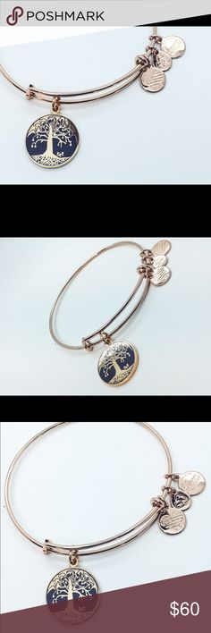 Alex and Ani tree of life rose gold epoxy finish Tree of life new with box and tag Alex & Ani Jewelry Bracelets