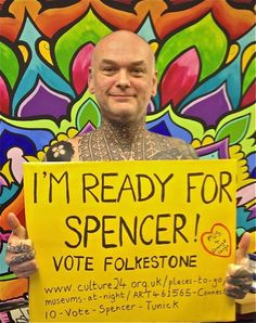 The Tattoo Shop is 'Ready for Spencer'  #votefolkestone  http://www.culture24.org.uk//places-to-go/museums-at-night/ART461565-Connect10-Vote-Spencer-Tunick
