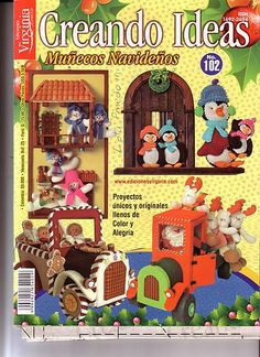 Colección de revistas de manualidades : Revistas Creando Ideas gratis Sewing Magazines, Cross Stitch Books, Crafts To Do, Fabric Crafts, Kids Rugs, Creando Ideas, Album, Christmas Ornaments, Canvas