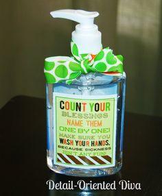 Detail-Oriented Diva!: Thanksgiving Handwashing Printable
