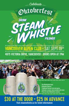 Giveaway Contest! Oktoberfest with Steam Whistle at the Vancouver Alpen Club