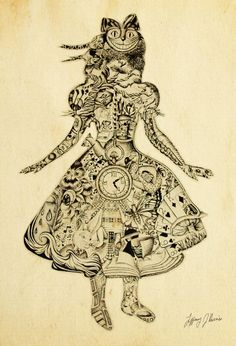Alice in Wonderland by Tiffany Harris, via Behance