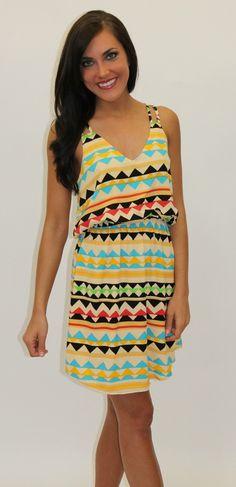 Dottie Couture Boutique - Aztec Printed Dress, $46.00 (http://www.dottiecouture.com/aztec-printed-dress/)